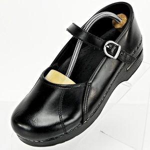 Dansko Mary Jane Black leather shoes clogs